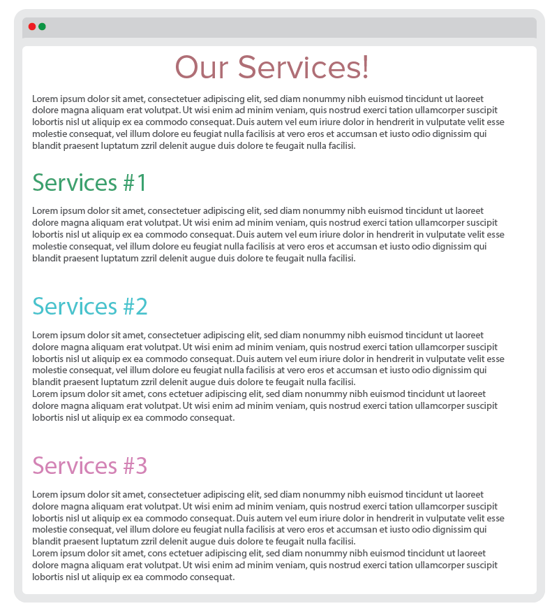 Example of a Single Page Site