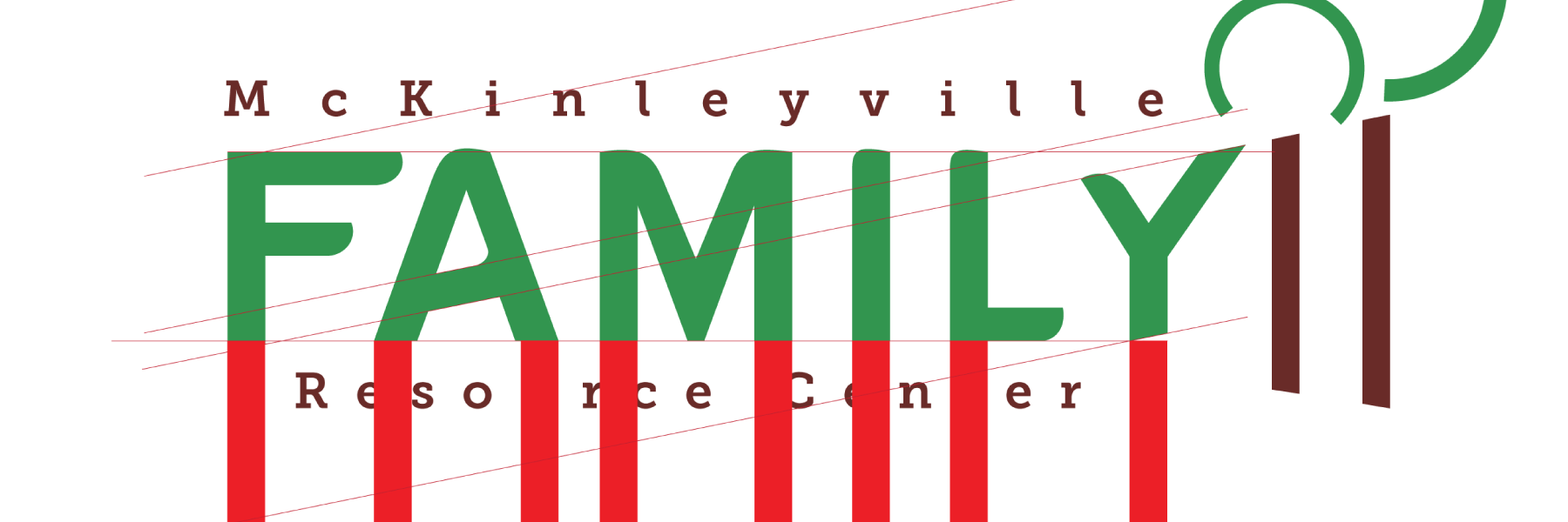 Logo typographic work for McKinleyville Family Resource Center