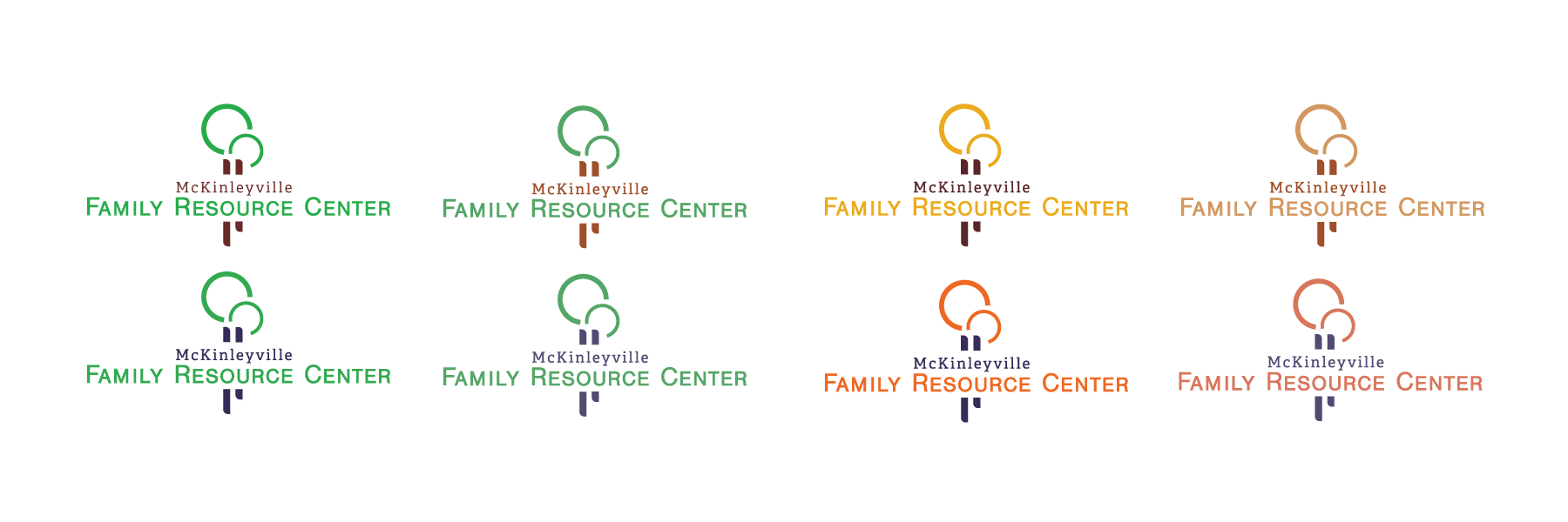 Color variations for McKinleyville Family Resource Center